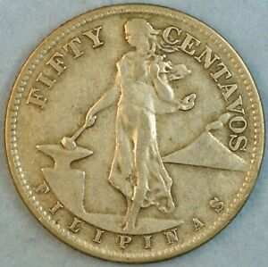 US-PHILIPPINES-FIFTY-CENTS-1945-S-Filipinas-UNITED-STATES-OF-AMERICA-36281