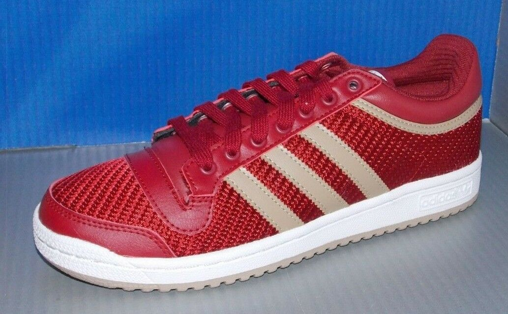 MENS ADIDAS TOP TEN LO in colors RED   HEMP   FTW WHITE SIZE 8