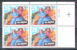 US-Stamp-L188-Scott-2722-Mint-NH-OG-Nice-Plate-Block-Oklahoma