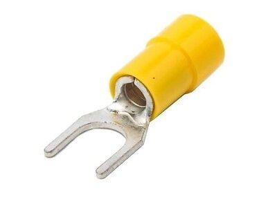 Cosses isolées à fourche 2,5 à 6 mm² pour vis max de 6,5  mm lot de 10 pièces