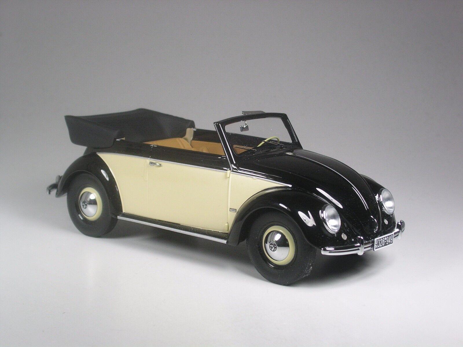 Klasse  Minichamps VW 1200 Käfer Cabrio schwarz-creme in 1 18 in OVP
