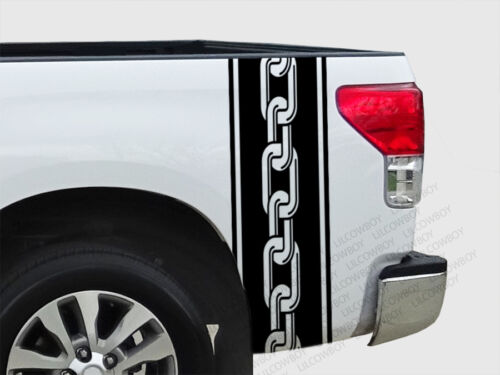 Ram Chevy Ford F150-TS13 Chain Biker work Bed Side Stripes vinyl Truck decal