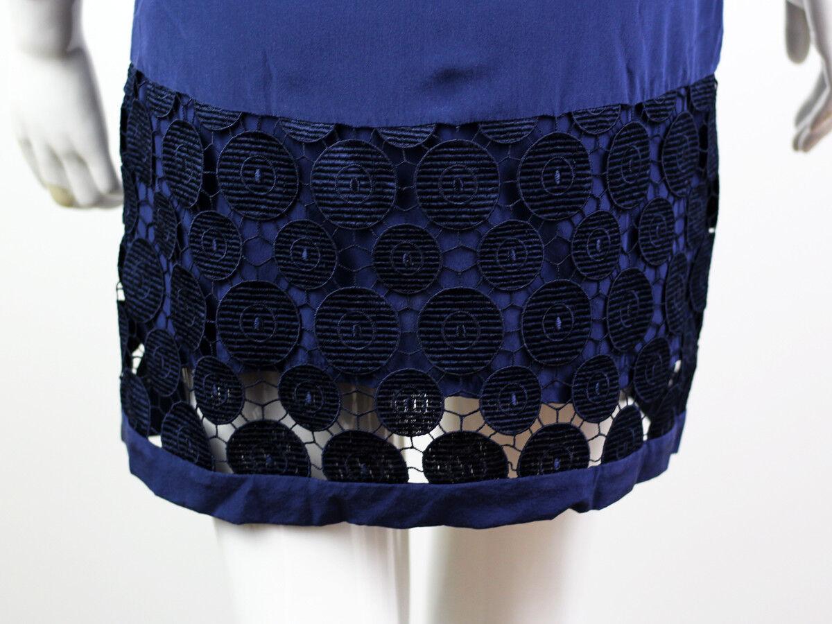 DIANA VON FURSTENBERG BLUE SILK LACE DRESS SIZE U… - image 8