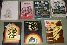 Lot Energy Solar Wind Alternative Power Greenhouse Home Heat Underground 7 BOOKS
