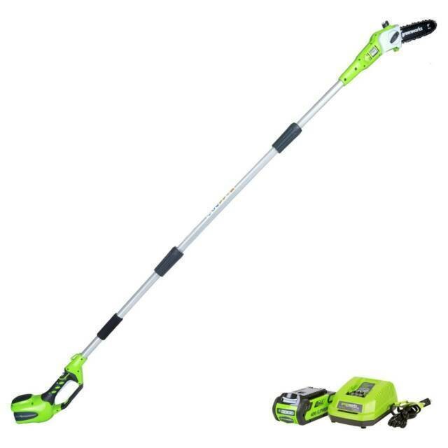 2.0 AH Battery Included 20352 Greenworks 8.3 24V Cordless Pole Saw