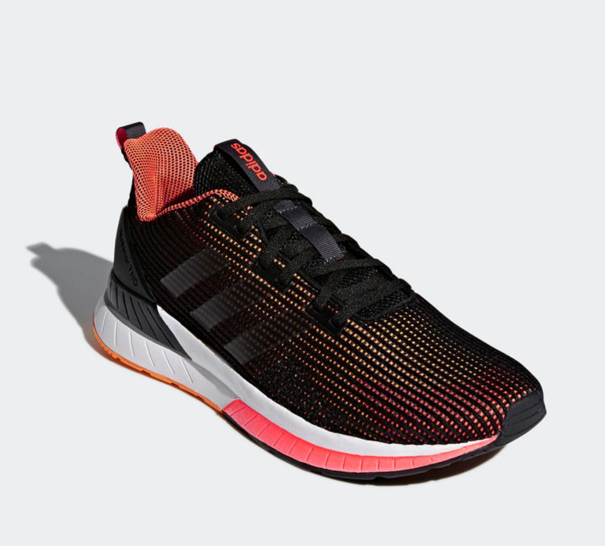 c761a3b5 ... Adidas Questar TND TND TND para Hombre UE 40 2 3 Negro y Naranja Nuevo  Zapatos ...