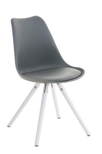 Besucherstuhl PEGLEG weiß Loft Chair Design Konferenzstuhl Lounge Retro Stuhl
