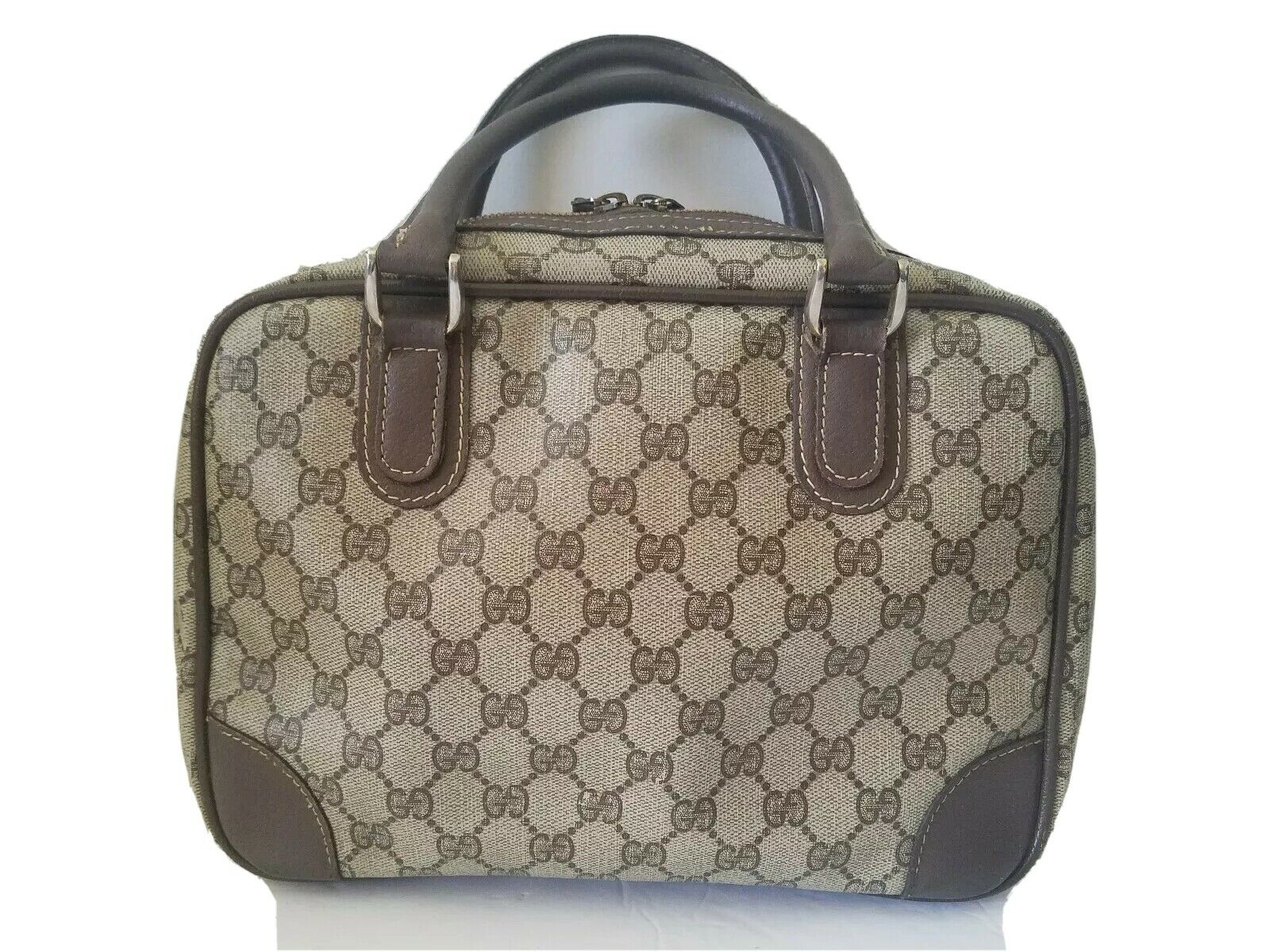 AUTHENTIC GUCCI GG MONOGRAM LEATHER/PVC DOCTOR BA… - image 2
