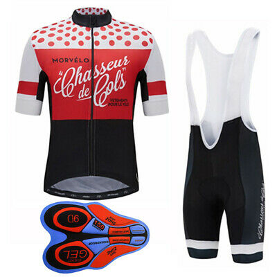 2020 Men Team Sportswear Cycling Jersey MTB Bike Short Sleeve bib shorts Set A06