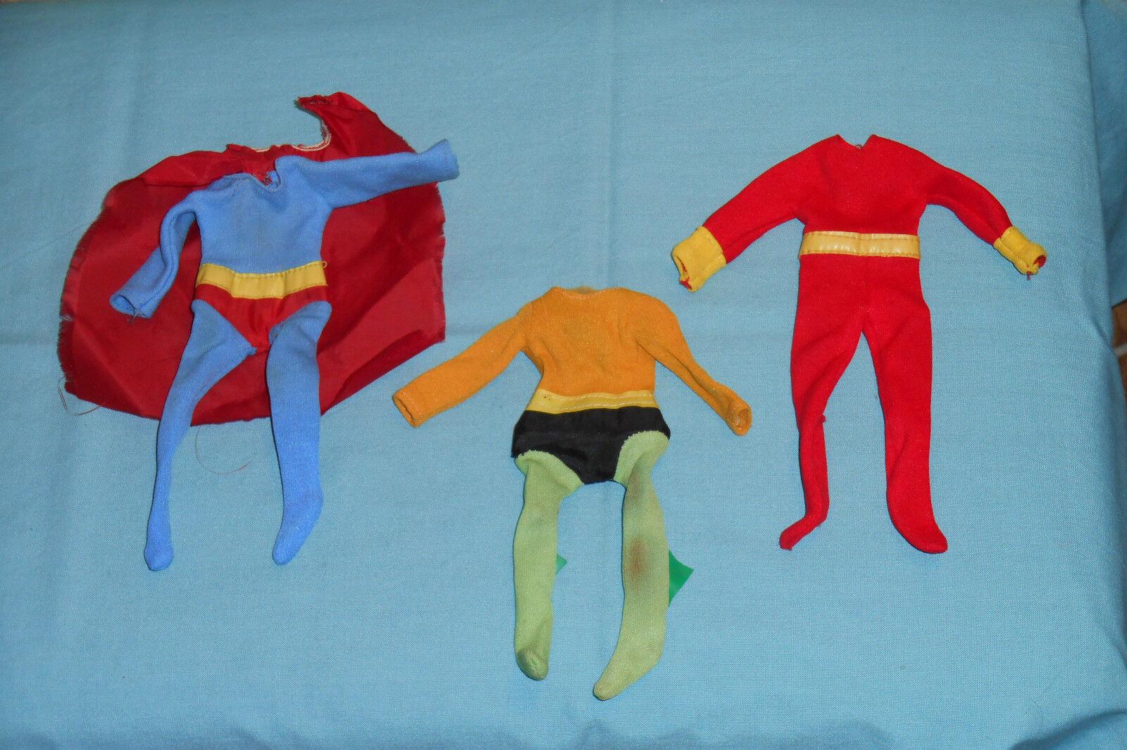 Vtg Mego World's Greatest Super-Heroes WGSH CLOTHES LOT Aquaman Superman Shazam