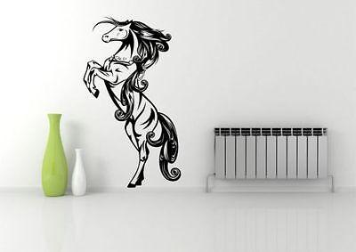 WILD HORSE STANDING GALLOPING WALL ART STICKER DECAL MURAL STENCIL VINYL PRINT