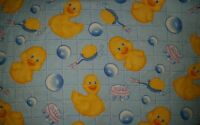 Personalize Rubber Duck Bath Time Soap Bubbles Baby Throw Blanket 35x42