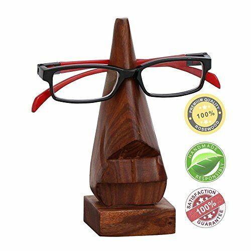 Spectacle Holder SouvNear Witty Wooden Nose Eyeglass Holder Display Stand fo