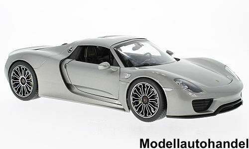 Porsche 918 Spyder Hard Top 2011 - silber silber silber -  1 18 Welly  | Garantiere Qualität und Quantität  dda830