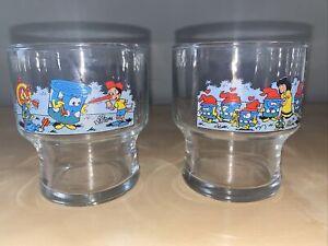 Syrup de Liege Belgium- Meurens- Advertising Glasses- Fairytale Art- Set Of 2