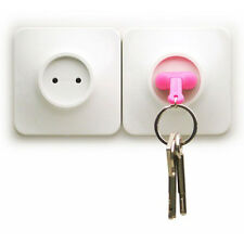 1PC Home Wall Decroation Design Unplug Keyring  Plug Socket Keychain Key Ring