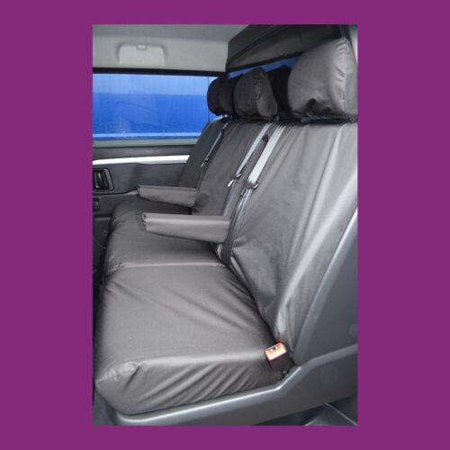 Citroen Dispatch 2016 Tailored Rear Crew Cab Black Waterproof Seat Covers