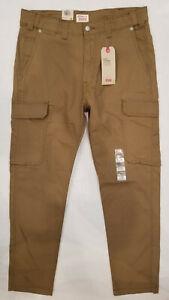 36x32 MSRP $69.50 Levi/'s 502 Taper Hybrid Cargos Stretch Grey Pants Men's 34x32