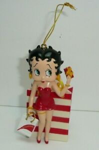 Shopping Betty Boop Figure Present Red Dress Heart Animated Cartoon Character