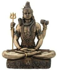 8.5 Inch Shiva in Lotus Pose Sculpture Statue Hindu Deity Hinduism God Decor