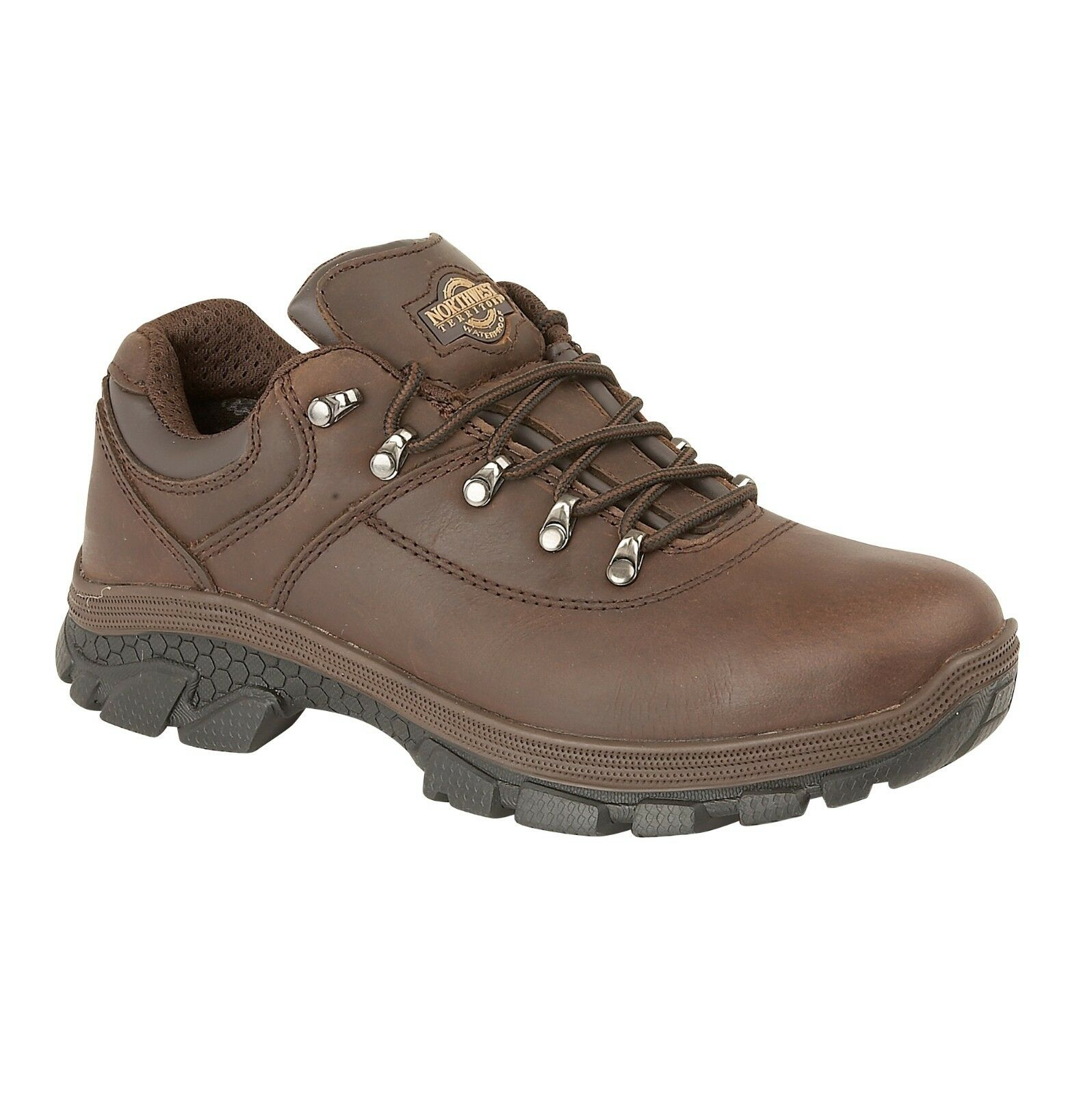 Uomo Branded Ankle Leather Walking Hiking Waterproof Ankle Branded Boots Trainers Shoes Size 217f0d