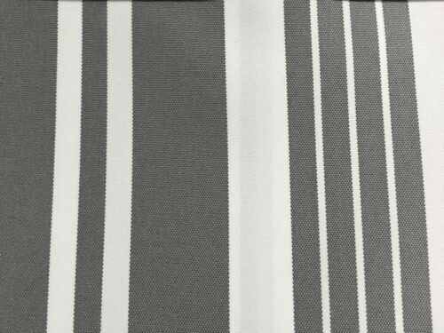 Roble Blanco Gris a Rayas Multi 100/% tela impermeable al aire libre de Lona Patio-BTY