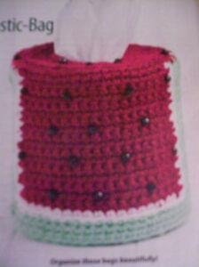 Crochet Pattern Watermelon Plastic Bag Dispenser Cover