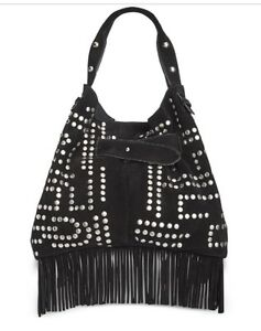 bc58f4174 Image is loading Sam-Edelman-NEW-Black-Emily-Studded-Bucket-Shoulder-
