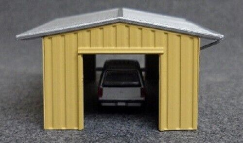 N  Deluxe Innovations  #384  Tan  Armco  Drive Thru Shed NIP Assembled
