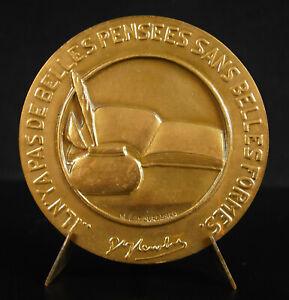 Medal-Gustave-Flaubert-Writer-Raoul-Lamourdedieu-1980-Main-1949-Medal