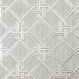 Arthouse-903105-Gianni-Argent-Geometrique-Feuille-Papier-Peint-Metallique