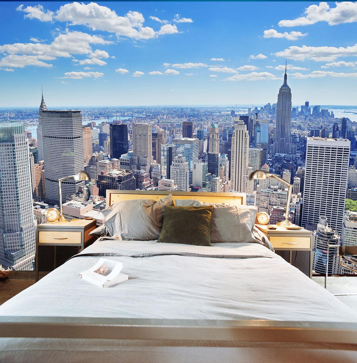 3D Beau New York 7 Photo Papier Peint en Autocollant Murale Plafond Chambre Art