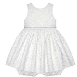 Baby Mädchen Petticoat Kleid inkl. Pump-Höschen in weiß ...