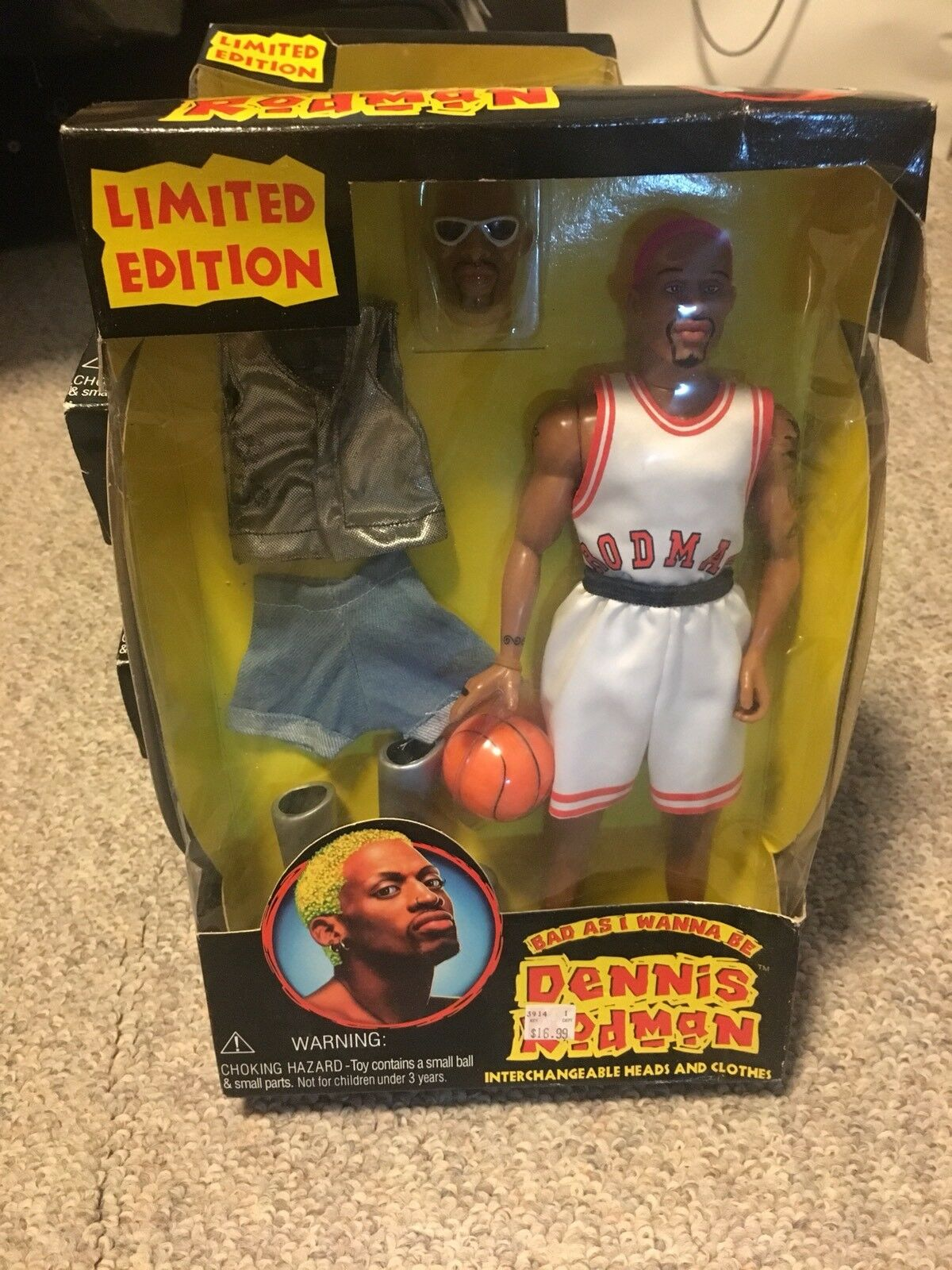 5 NIB Dennis Rodman Limited Edition Bad As I Wanna Be Action Figures. All 5