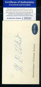 William-Eckert-PSA-DNA-Coa-Autograph-Hand-Signed-3x5-Index-Card