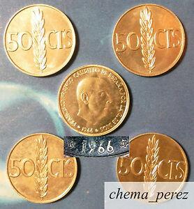 Lote-5-monedas-de-50-centimos-peseta-1966-73-SC