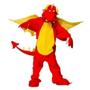 Fire Breathing Dragon Kids Fancy Dress World Book Day Animal Garçons Filles Costume-afficher Le Titre D'origine