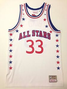 best cheap ae442 7c04f Details about AUTHENTIC MITCHELL NESS LARRY BIRD BOSTON CELTICS ALL STAR  WHITE JERSEY 44