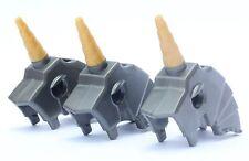 LEGO® Lot of 3 - Horse Battle Helmet with Unicorn Horn