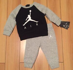 d46e82bb74f NWT Air Jordan Baby Boy 2 Piece Jogging Set sweatsuit Jumpman ...