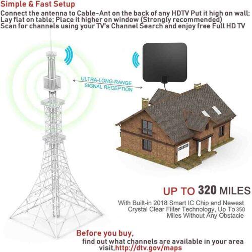 TV, Video & Home Audio Electronics DIGITAL TV ANTENNA 320 MILE ...