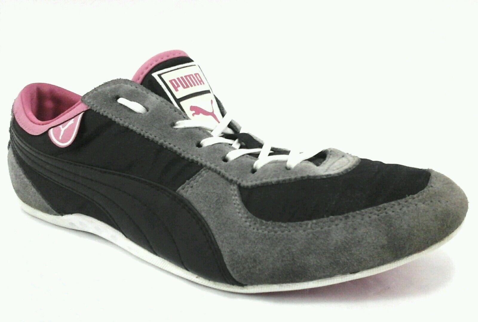 PUMA Sneakers Suede Noir/Gris/Rose Satin Chaussures Femme US 9.57 EU 40.5  85