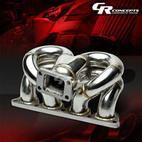 T3 Cast Stainless Ram Horn Racing Turbo Charger Manifold Kit For Honda D-series