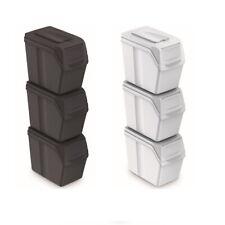 Cubo de Reciclaje Ecólogico Juego de 3 Cubos de Basura 3x20L Apilable...
