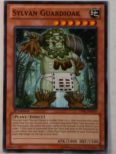 Sylvan Guardioak Common NM//Mint Yu-Gi-OH x3 LVAL-EN019 1st Ed
