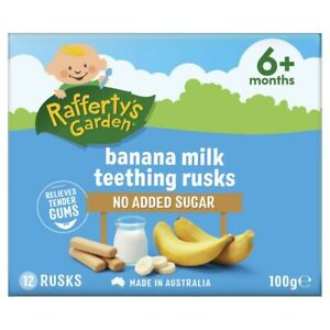 Rafferty's Garden Banana Milk Teething Rusks 100g