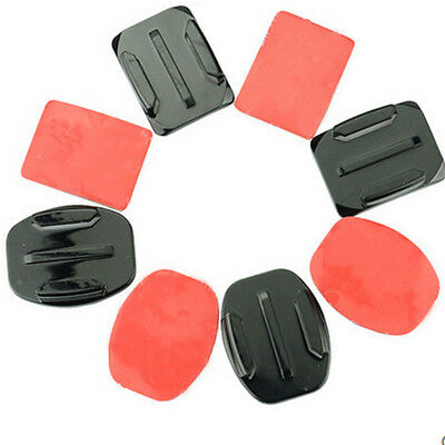 Portable 6pc Helmet Flat Curved Adhesive Sticker Pads Mount For Gopro Hero 1 2 3
