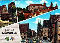 Grüße aus Nürnberg , Ansichtskarte , 1967 gelaufen