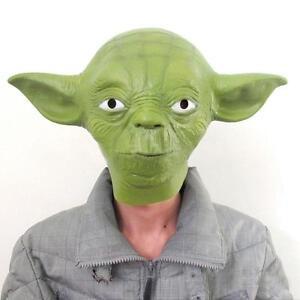 928912a398 Star Wars Movie Yoda Jedi Master Latex Head Halloween Mask Cosplay ...
