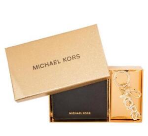 d7283dcf8f36 New Michael Kors Jet Set Travel Black Carryall Wallet and Key Chain ...